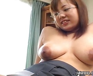 Busty Japanese babe fucked at home uncensored