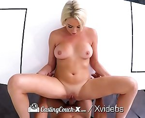 CASTINGCOUCH X Car make-out turns into FUCK with mouthful
