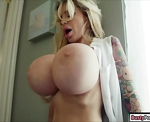 Busty blonde milf ass fucked by her guy