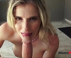 I don't want to cum in MOMs pussy-Cory Chase