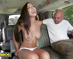 BANGBROS - Pretty Latina Angelica Cruz Gets Her Pussy Stetched By J-Mac On The Bang Bus