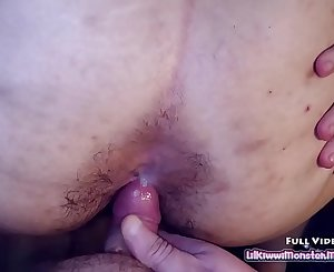 Sucking off my STEP BROTHERS little cock before letting him Jizz on in my hairy ASSHOLE!
