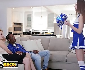 BANGBROS - Cheerleader Riley Reid Rides Her Mom's Boyfriend's Big Black Dick