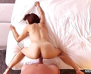 MomPov Nut Fucking Short Hair Petite MILF First Time Ever on Camera HD
