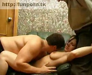 Two guys compelled by a Russian girl