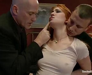 Pay her brother's dept with her pussy, mouth and ass